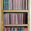 Book shelf and books — Stock Photo
