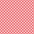 Stock Vector: Gingham Pattern in Red and White