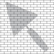 Stencil of brick wall — Stock Vector