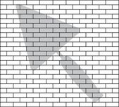 Stencil of brick wall — 图库矢量图片