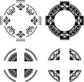 Set de anillos de fantasía — Stockvector