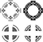 Sada kroužků fantazie — Stock vektor