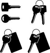 Set of keys. stencil. first variant — Stock Vector