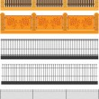 Royalty-Free Stock Vector Image: Set of fences and walls