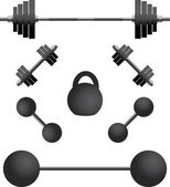 Set of weights.third variant — Stock Vector
