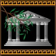 Fantasy hellenic temple — Stock Vector