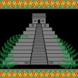 Fantasy mayan pyramid — Stock Vector