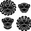 Royalty-Free Stock Vector Image: Set of lion snouts