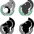 Set of ancient winners - Stock Vector