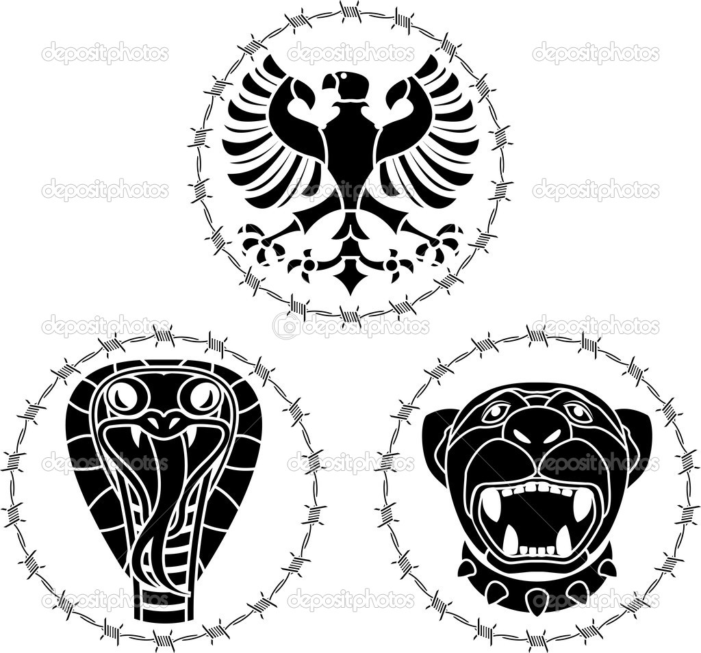 Wild animals. stencil. vector illustration — Stock Vector #4477558