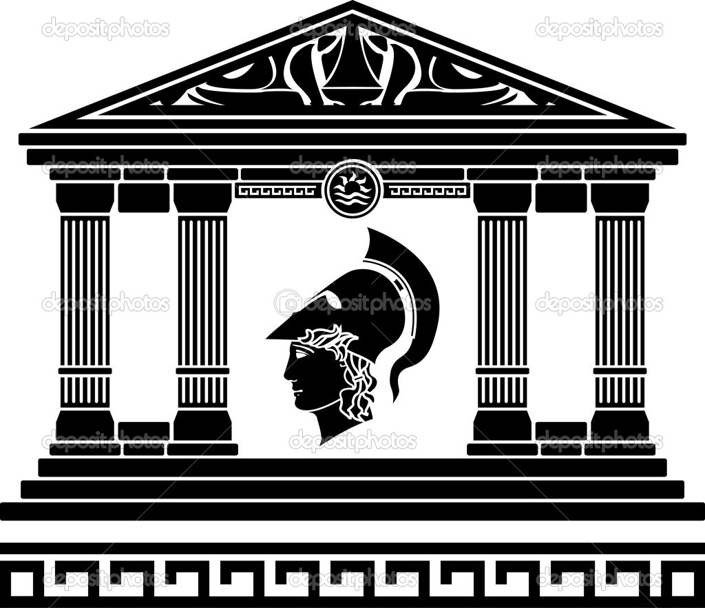Temple of alexander the great. vector illustration — Stock Vector #4508729