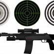 Stock Vector: Sniper rifle and targets
