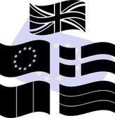 Stencils of european flags — Stock Vector