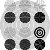 Stencils of targets — Stock Vector
