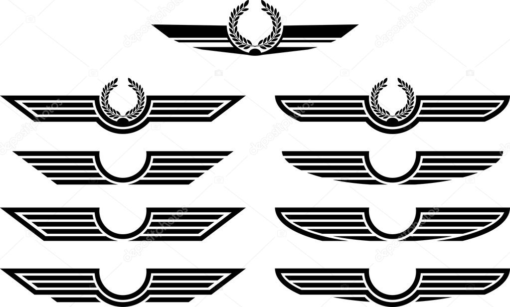 Set of insignias. stencils. vector illustration — Stock Vector #4873653