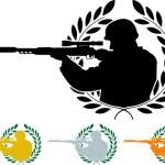 Stencil of sniper — Stock Vector