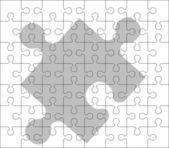 Stencil of puzzle pieces — Stock Vector