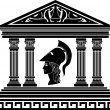Stock Vector: Temple of Athena. stencil