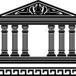 Fantasy temple — Stock Vector