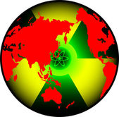 Radiation world — Stock Vector