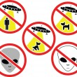Warning signs for aliens — Stock Vector