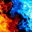 Stock Photo: Red and blue fire