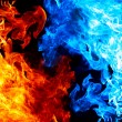 Red and blue fire — Stock Photo