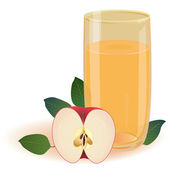 Apple juice — Stock Vector