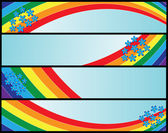 Banners with rainbow — Stock Vector