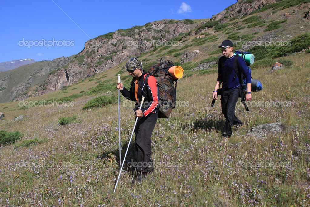 Backpackers in the hike  — Stock Photo #4249671