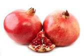 Group pomegranate isolated on the white background — Foto de Stock