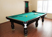 Billiard table — 图库照片