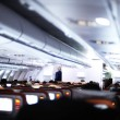 Inside of airplane — Stock Photo #4194536