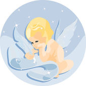 Cupid - angel of love — Stock Vector
