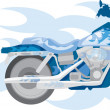 Blue motorcycle — Stock Vector #4858592