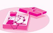 Pink jewelry — Stock Vector