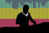 Clubbing DJ — Stock Vector