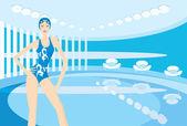 Swimming-pool — Stock Vector