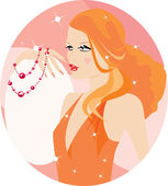 Pretty woman — Stock Vector