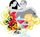 Couple in club — Stock Vector