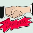 Stock Vector: Business handshake