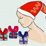 Christmas dream — Stock Vector