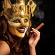 Royalty-Free Stock Photo: Smoking girl