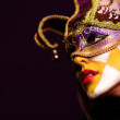 Sexy woman in party mask — Stock Photo