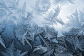 Blue frost pattern — Stock Photo