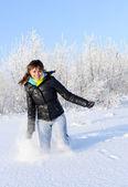 Winter run — Stock Photo