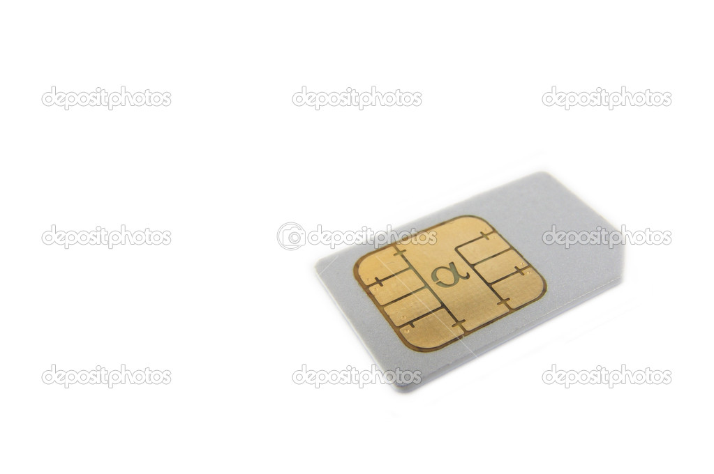 SIM card for cellphone — Stock Photo #5055105