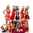 Women in Christmas costumes — Stock Photo #5077944