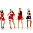 Women in Santa Claus costumes — Stock Photo #5077978