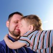 Royalty-Free Stock Photo: Son embrace his father